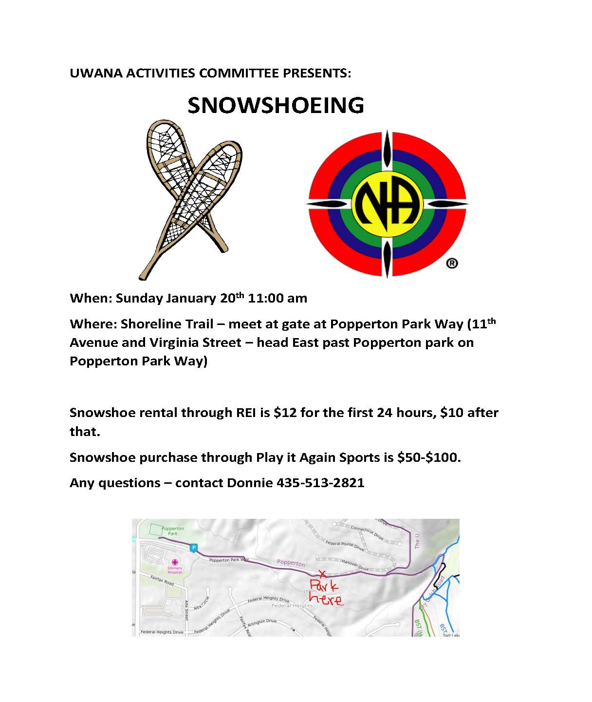 snowshoeing flyer
